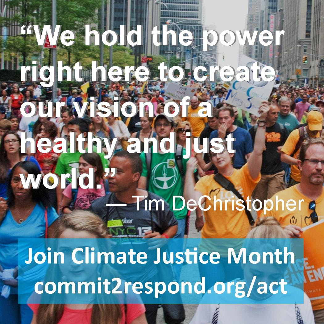 Climate Justice Month quote