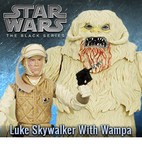 STAR WARS BLACK LUKE SKYWALKER WITH WAMPA