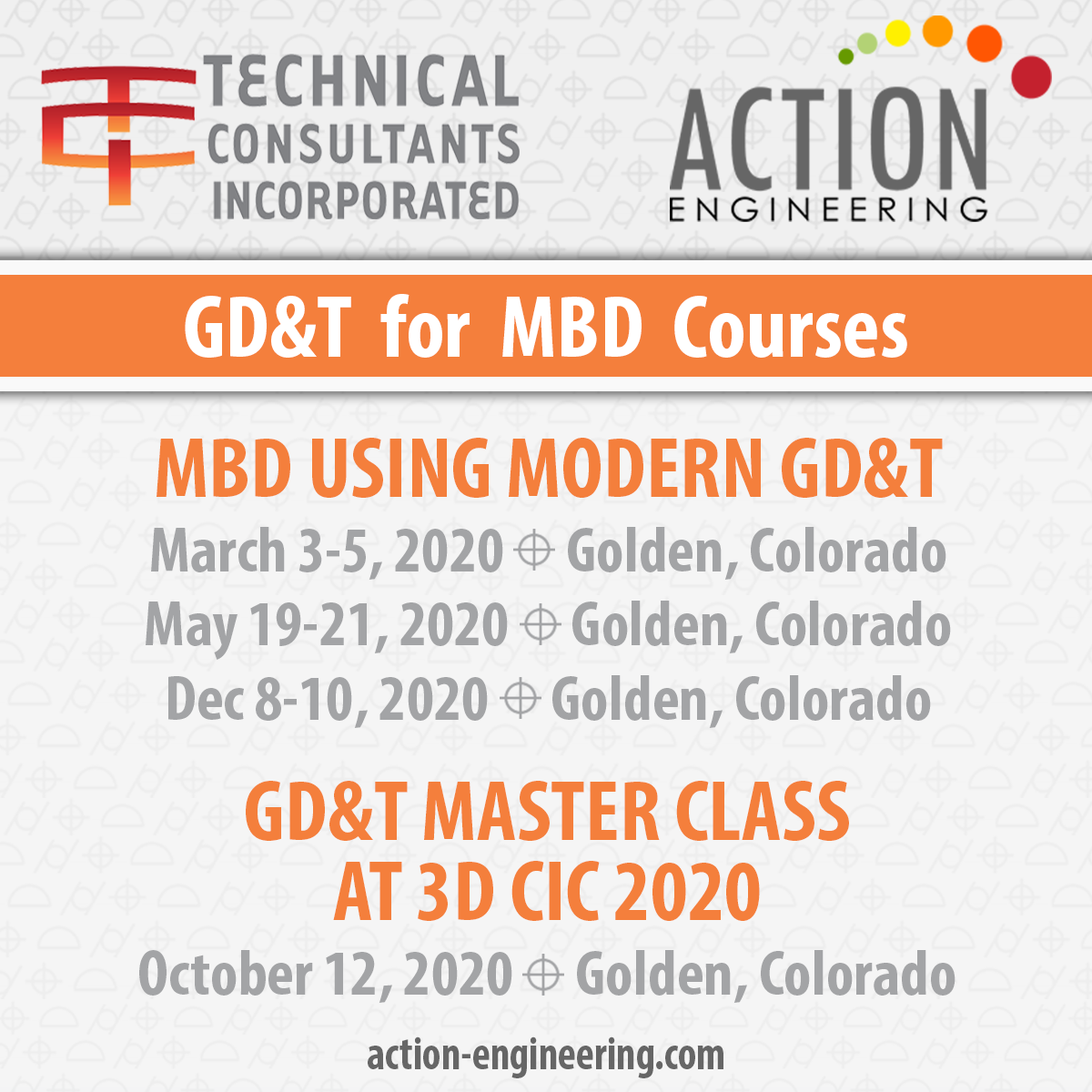 3 MBD Using Modern GD&T Courses for 2020 in Golden, Colorado