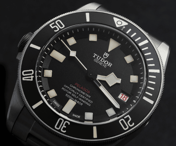 Pelagos with square hour markers