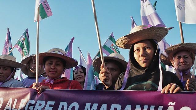 La movilización contó con la participación de la 1a Marcha de Mujeres Indígenas  - Créditos: Andressa Zumpano/CPT