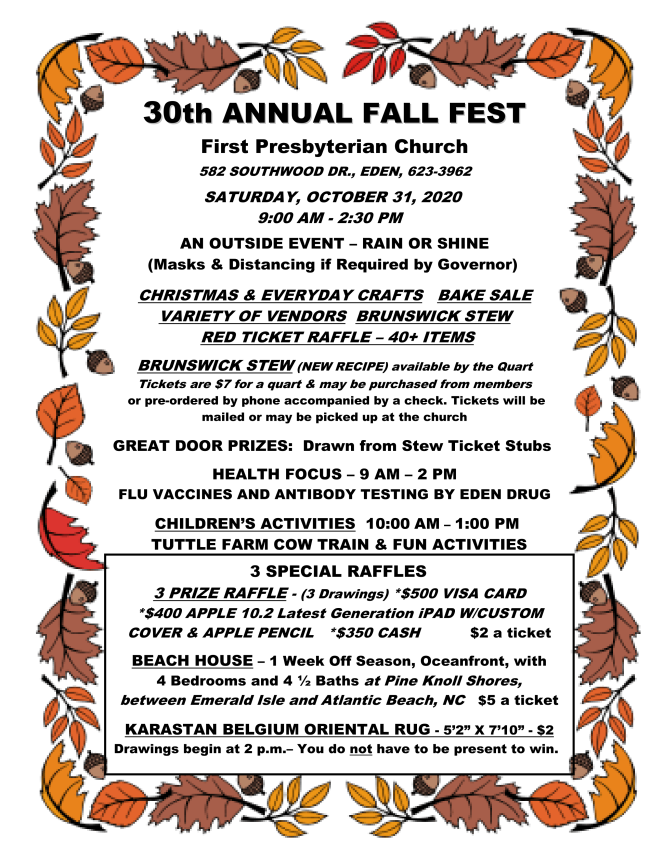 30th. Annual Fall Festival