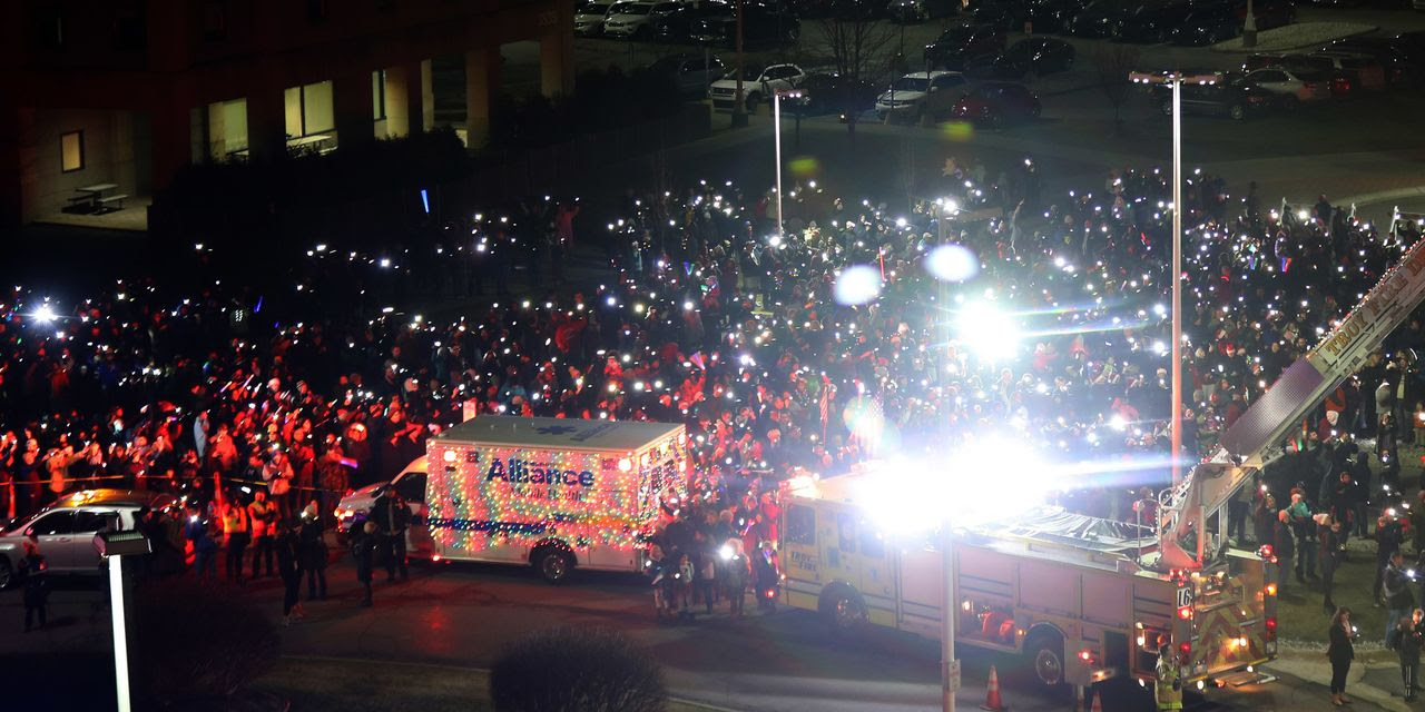 Image result for lights outside detroit children's hospital wall street journal