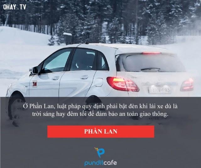 Mở đèn khi lái xe - Phần Lan,luật lệ,những điều thú vị trong cuộc sống,chuyện lạ