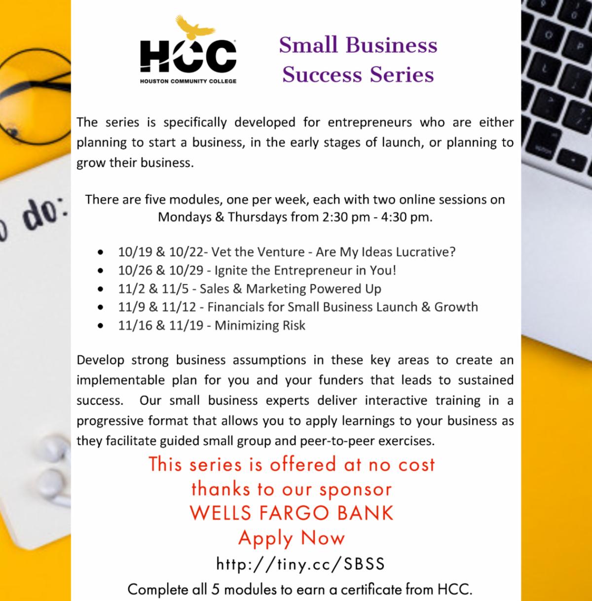 HCC - Office of Entrepreneurial Initiatives: November 2020 Newsletter 17