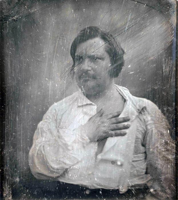 Оноре де Бальзак с дагерротипа Louis-Auguste Bisson, 1842 год