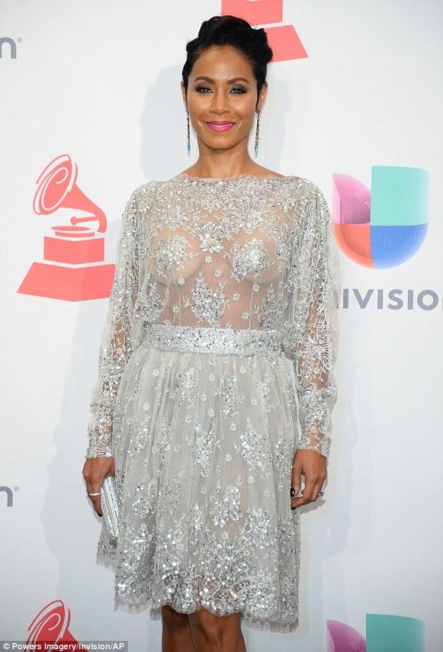 Jada Pinkett Smith goes braless for Latin Grammy Awards 2015