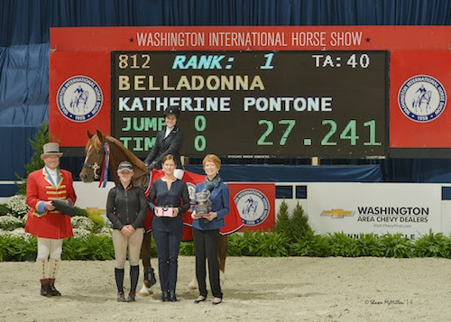 Katherine Pontone and Belladonna in their winning presentation