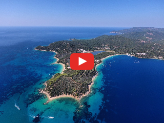 Drone Video from Skiathos town and island