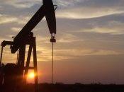 An oil pump in operation at dawn near Midland, Texas, U.S., April, 2020.