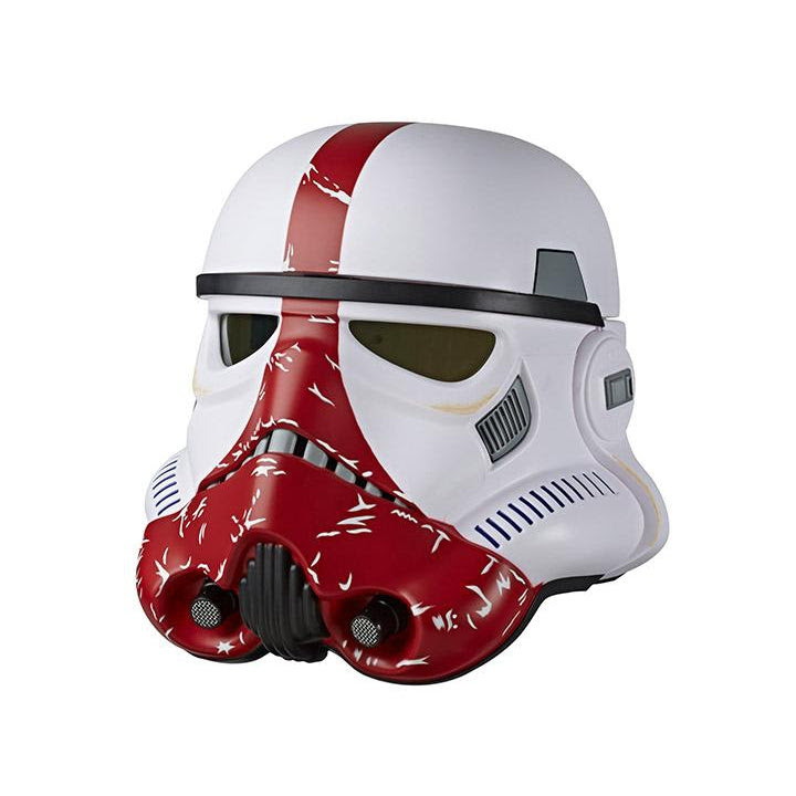 Image of Star Wars The Black Series The Mandalorian Incinerator Stormtrooper Electronic Voice-Changer Helmet Prop Replica