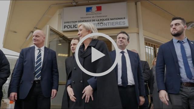 Frontières, terrorisme, immigration : Marine Le Pen en déplacement à Nice et Menton |Marine 2017