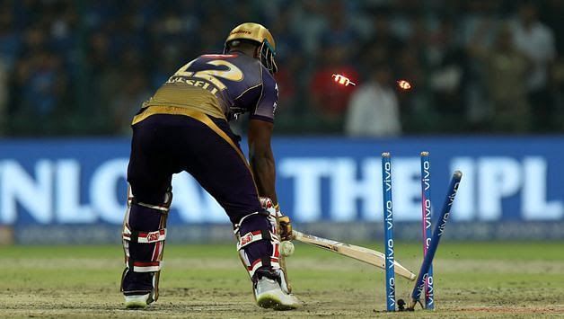 Kagiso Rabada won the previous battle against Andre Russell (Image Courtesy - IPLT20/BCCI)