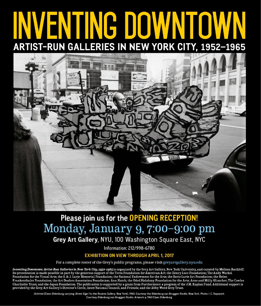 Inventing Downtown Opening Reception Invitation
