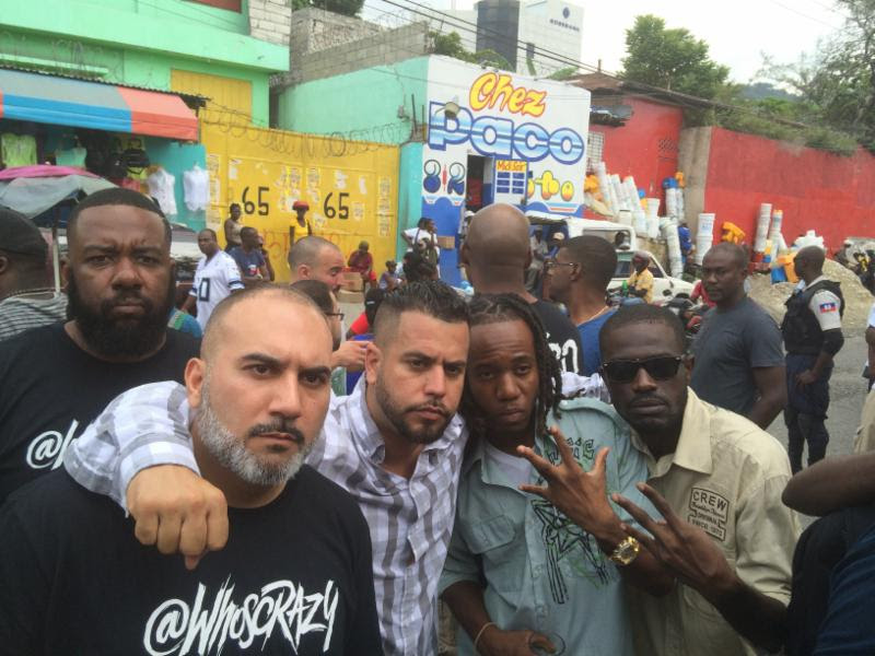 Dro305, DJ EFN, Garcia meeting Haitian hip hop artist at Legza Records Studio