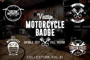 Vintage Motorcycle Badge (50%- OFF)