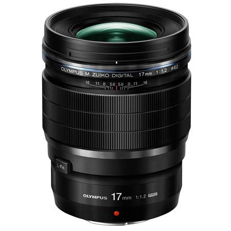 M. Zuiko Digital ED 17mm f/1.2 Pro Lens - Black - for Micro Four Thirds System