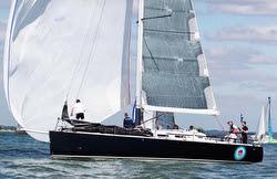 J/122 sailing RORC race off Cowes, England