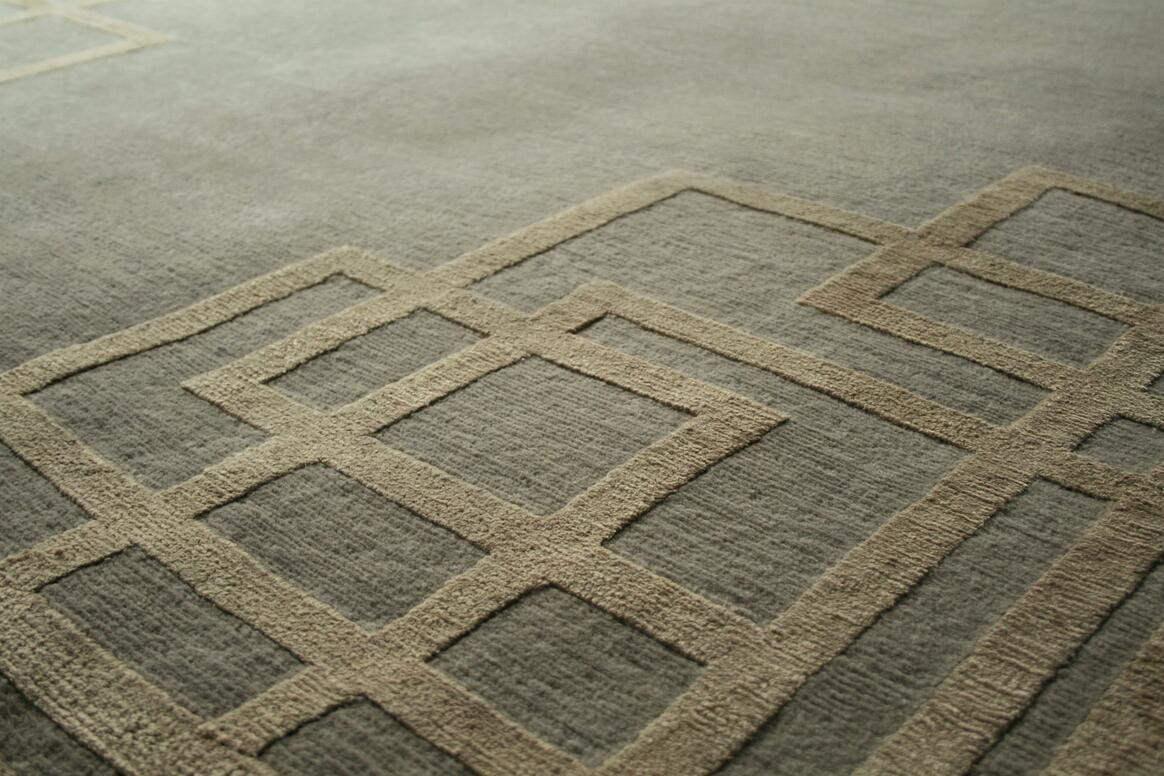 contemporary rug close up