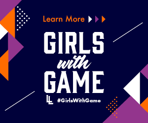 girls with game banner graphic