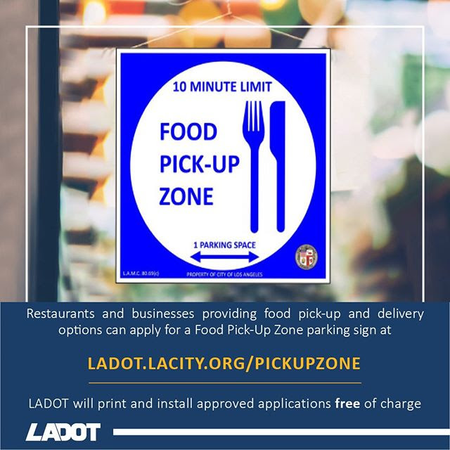 LADOT Restaurant Pick up Zone