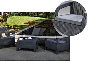 Keter Corfu with sturdy comfortable weatherproof cushions