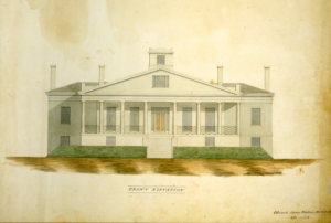 William Wilkins Warren House, 1840 (detail). An image from an early point in a long and fruitful journey interpreting Arlington's history. (Courtesy Historic New England.)