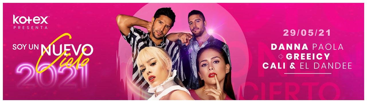 Así será el concierto de Danna Paola, Cali y el Dandee y Greeicy Rendón