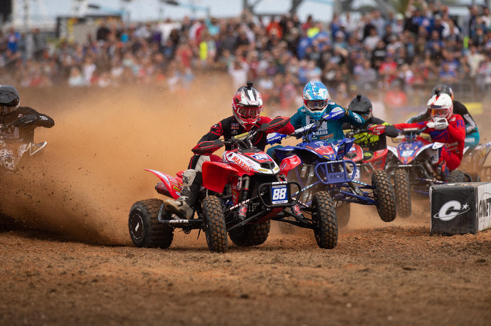 Joel Hetrick captured the holeshot award, as well as the overall win at the Daytona ATV Supercross.