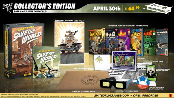 Sam & Max Save the World Collector's Edition mockup