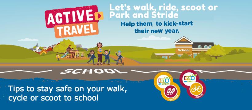 Header - walk ride to school