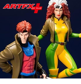 X-MEN ARTFX+ GAMBIT & ROGUE STATUE TWO-PACK