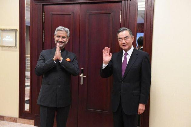 External Affairs Minister S Jaishankar with his Chinese counterpart Wang Yi.