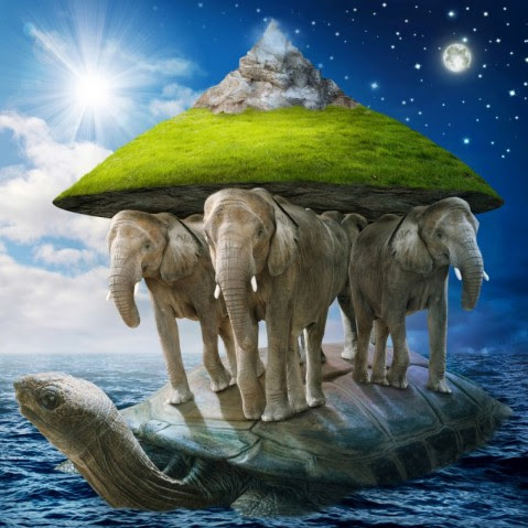 Turtle-supporting-earth