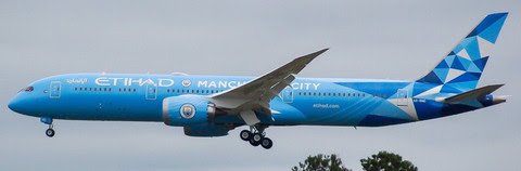 Boeing 787-9 Etihad Airways,'Manchester City Colours'A6-BND | is due: January 2020