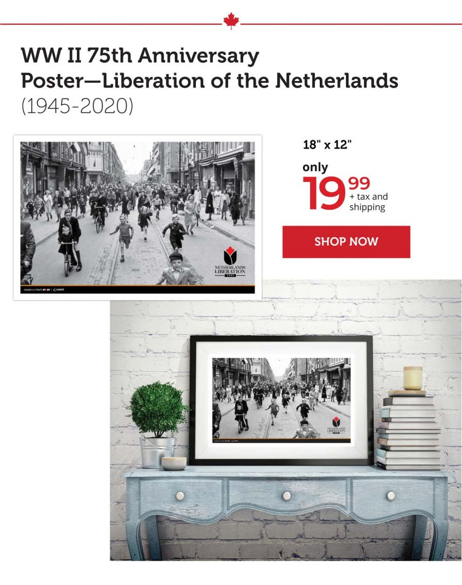 WW II 75th Anniversary Poster - Liberation of the Netherlands