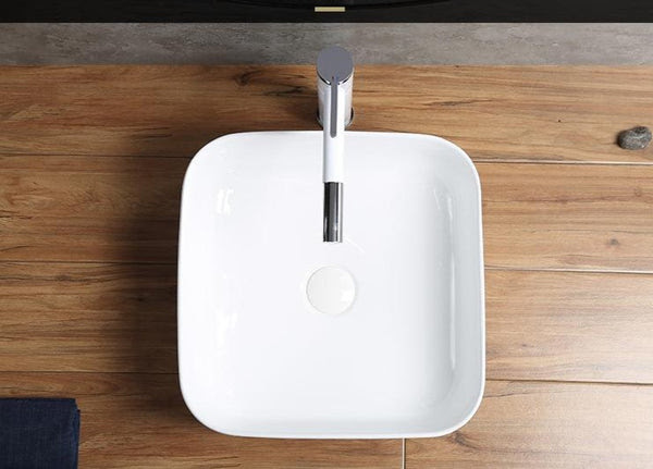Karri - Ceramic Countertop Bathroom Sink with Pull Out Faucet