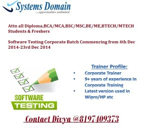 Software Testing Corporate Batch