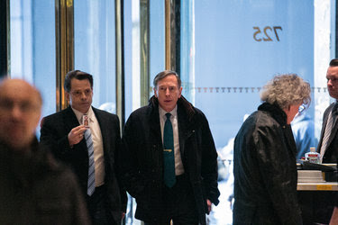 David H. Petraeus, the former general and C.I.A. director, at Trump Tower in Manhattan earlier this week.