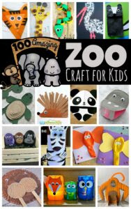100+ Amazing Zoo Crafts for kids - arranged by habitats! Lion, Giraffe, polar bear, elephant, arctic animals, under the sea, panda, and more crafts for kids from toddler, preschool, kindergarten and more #zootheme #craftsforkids #preschool