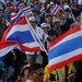 Antigovernment protesters marched through Bangkok on Sunday.