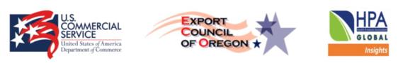 U.S. Commercial Service, Export Council Oregon, Health Products Association - China logos