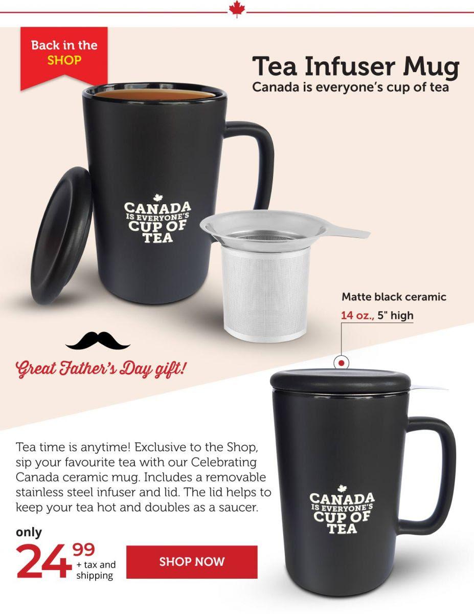 Tea Infuser Mug - Celebrating Canada!
