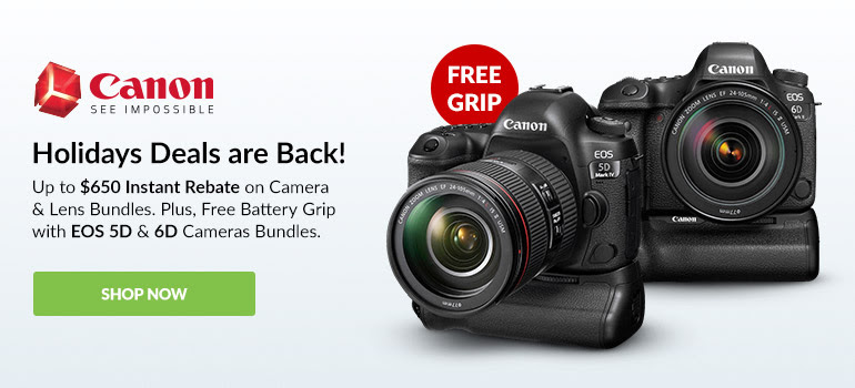 Canon holiday Sales are back