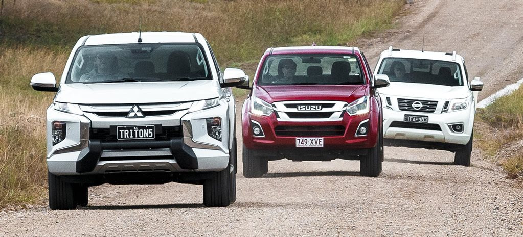 2019 Mitsubishi Triton vs Isuzu D-Max vs Nissan Navara 4x4 comparison feature