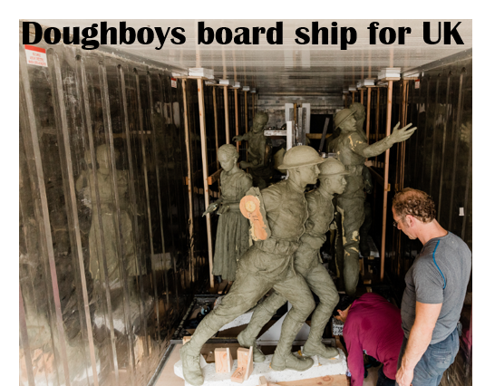 Doughboys board ship for UK