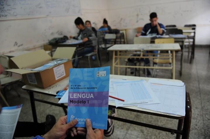 Operativo Aprender en una escuela de Vicente Lopez. Foto Lucia Merle /  Archivo