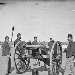 Gun squad at drill