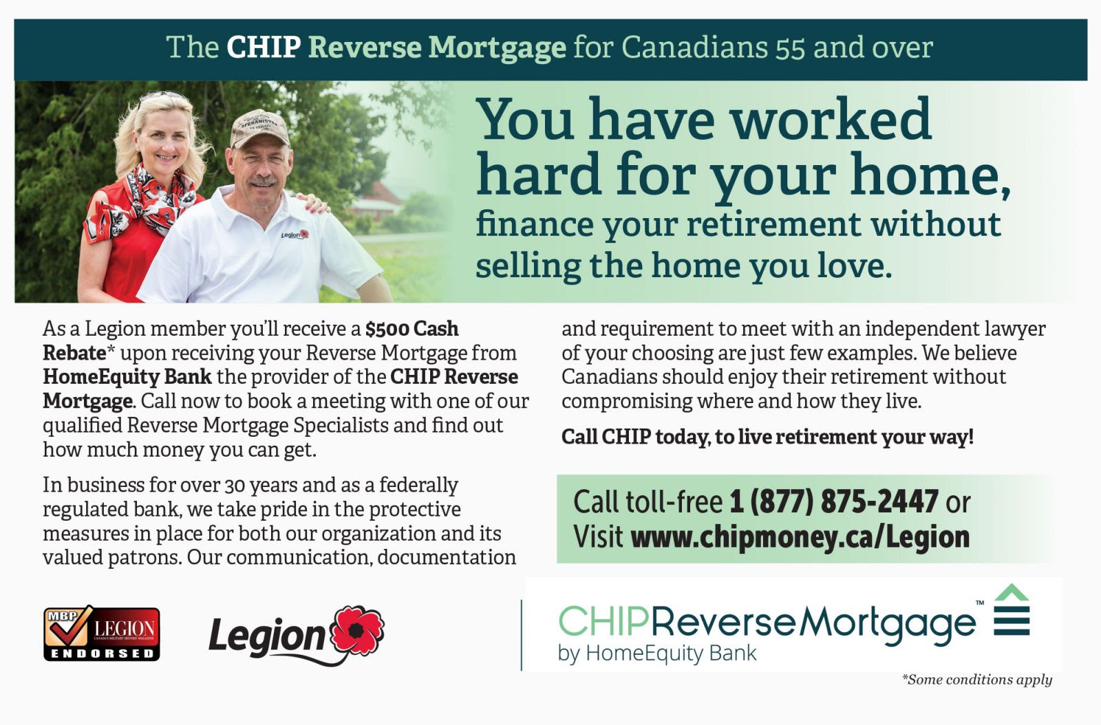 CHIP Reverse Mortgage for Canadians 55 and over