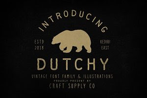 Dutchy - Vintage Type Family +Extras